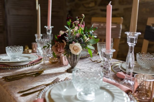 Rustic Luxe Wedding with Cerise, Red and Powder Pink Touches