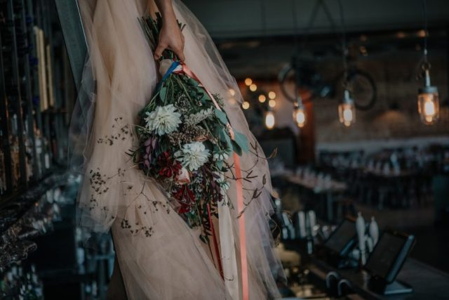 ndustrial Wedding with Chic Vibes and Bridal Separates