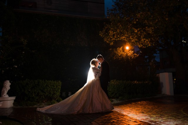 Classic Fairytale Wedding with Bespoke Dress and Rose Gold Touches