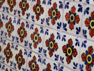 tlaquepaque tile bench
