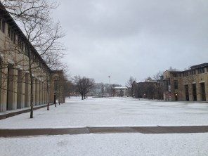 Winter at Carnegie Mellon.