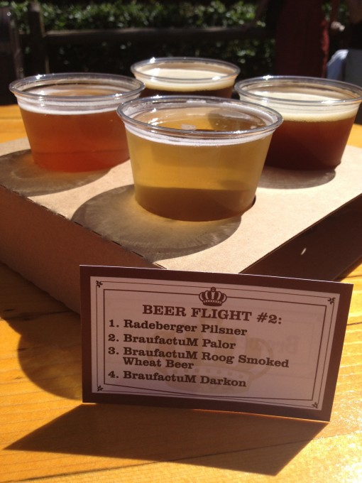 Beer flight at the Epcot International Food and Wine Festival