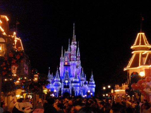 Holidays at the Magic Kingdom in Disney World.