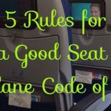 5 Rules for Being a Good Seat Buddy; an Airplane Code of Conduct.