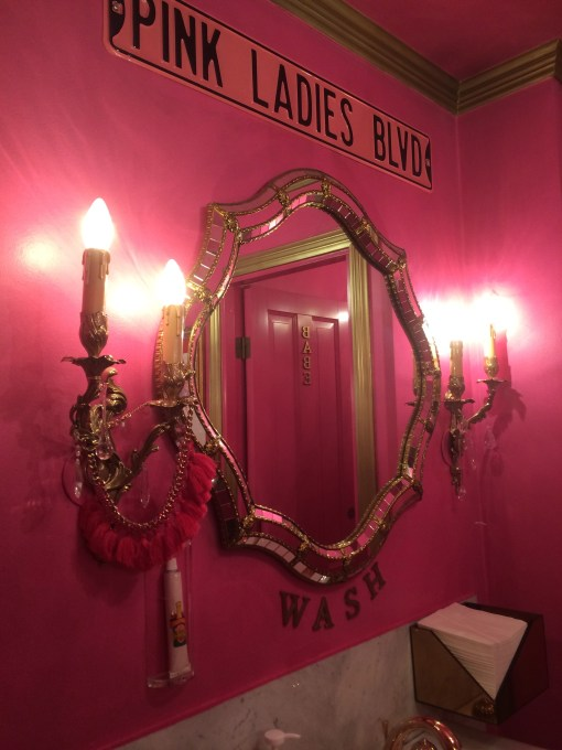 Ladies room at The Mini Bottle Gallery in Oslo, Norway