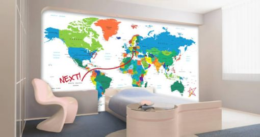 World Map Dry Erase Decal