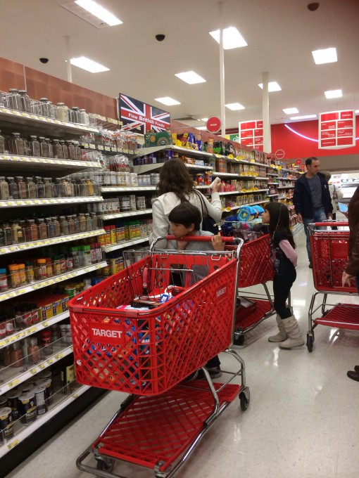 The mad dash on Cadbury products at the Kissimmee Target