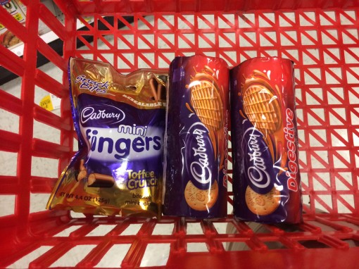 Loading up on Cadbury at Target