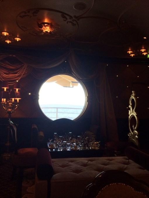 Ooh La La champagne bar on the Disney Fantasy- Disney Cruise LInes