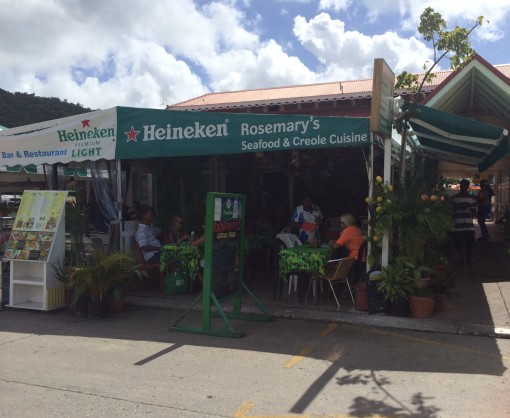 Rosemary's Restaurant in Marigot, Saint Martin