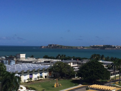 View from Casa Bacardi Distillery in San Juan, Puerto Rico