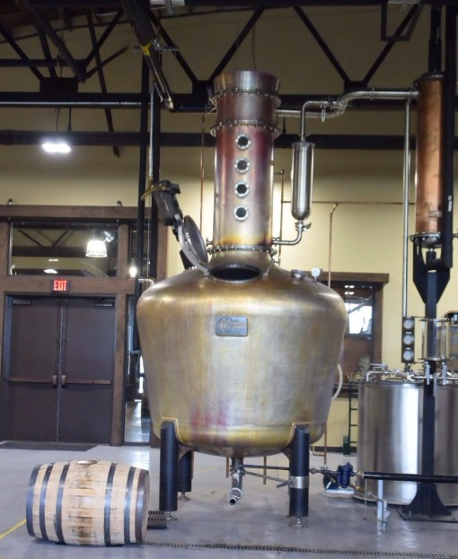 Miss Louisa, the old fashioned copper still used to make all of the whiskey at Nelson's Greenbrier Distillery in Nashville, TN