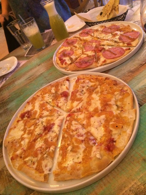Brazilian style pizza at Braccia Pizzeria & Restaurante in Winter Park, FL