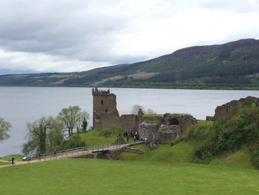 Castle Urquhart on Loch Ness in Scotland.