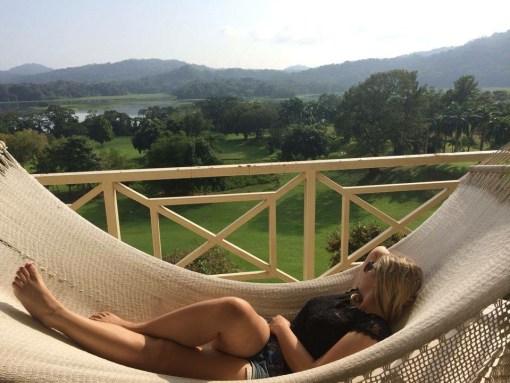 Enjoying the view of the Gamboa Rainforest in Panama