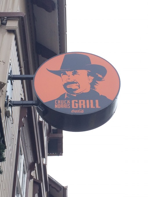 The Chuck Norris Grill in Reykjavik, Iceland