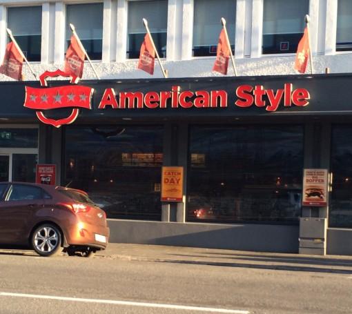 """American Style"" restaurant in Reykjavik, Iceland"