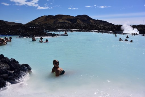 Floating in a Blue Lagoon
