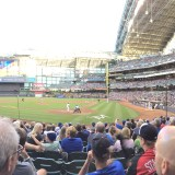 Sportsing at Miller Park in Milwaukee