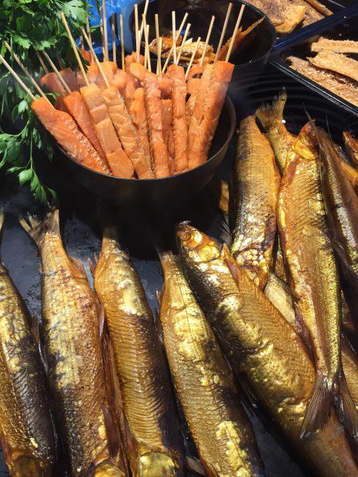 Smoked fish at Nynäs Rökeri in the Stockholm Archipelago of Nynäshamn, Sweden