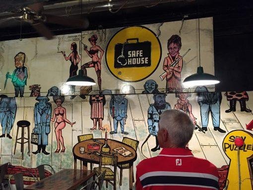 Safe House spy themed bar in Milwaukee, WI