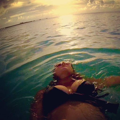 Floating off into the sunset in Bimini