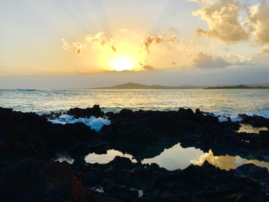 Sunset on Isla Isabela in the Galapagos Islands