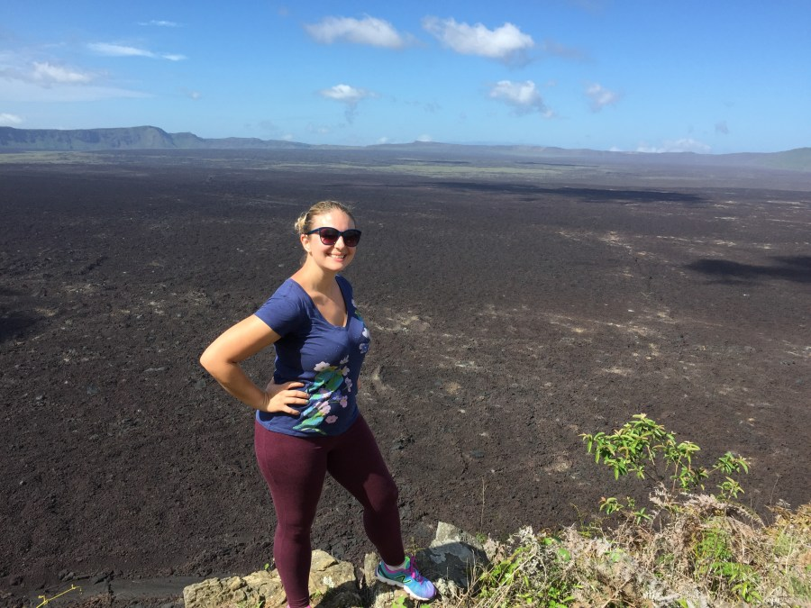 Hiking the Sierra Negra Volcano on Isla Isabela in the Galapago.