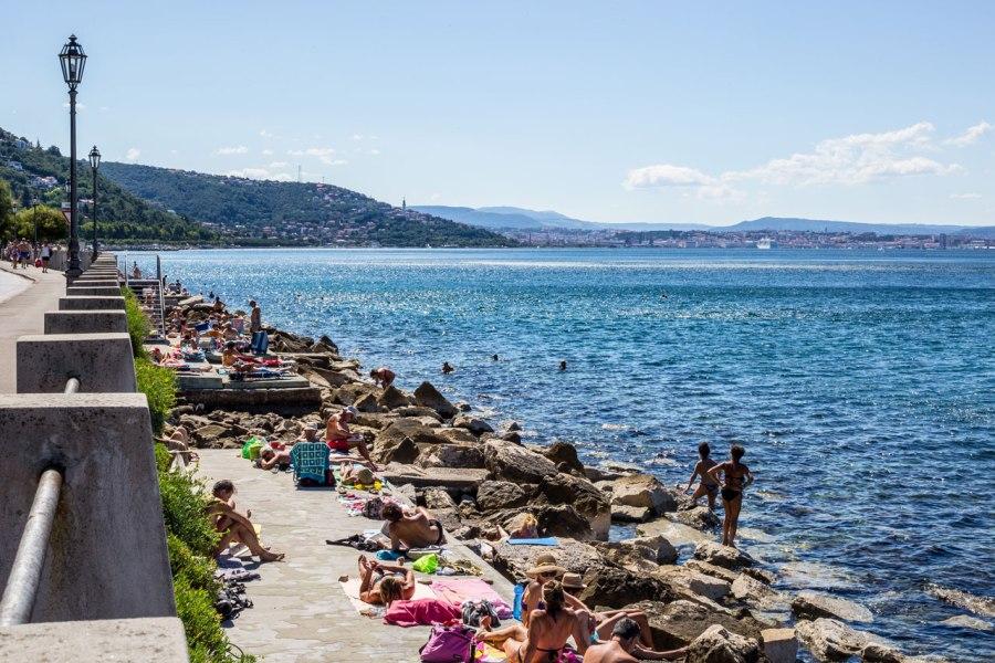 Topolini Beach, Trieste