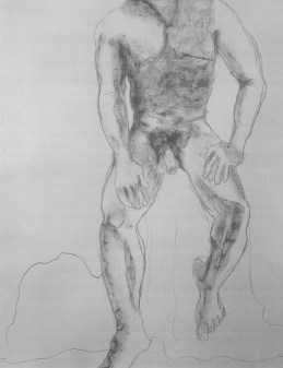 thirty minute pose (or thereabouts), charcoal
