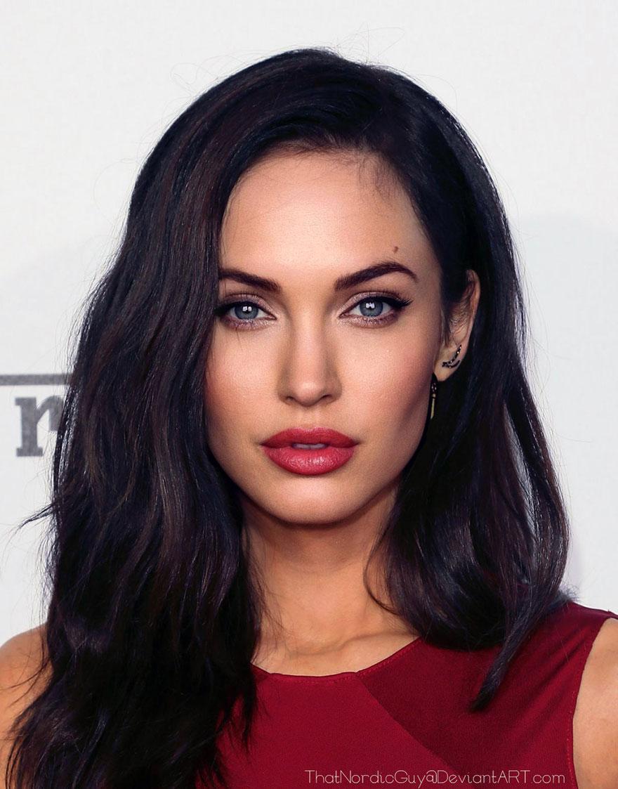 2-Angelina Jolie : Megan Fox