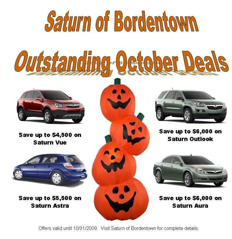 Great october deals at Saturn of Bordentown