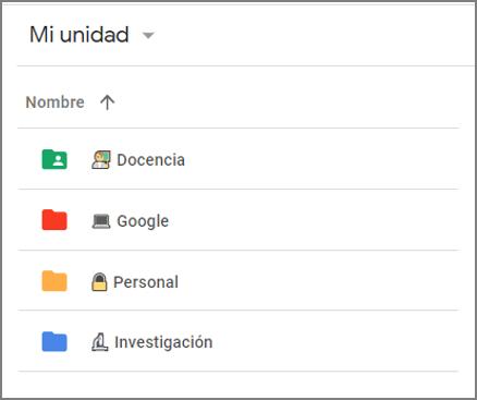 Mi unidad - Google Drive