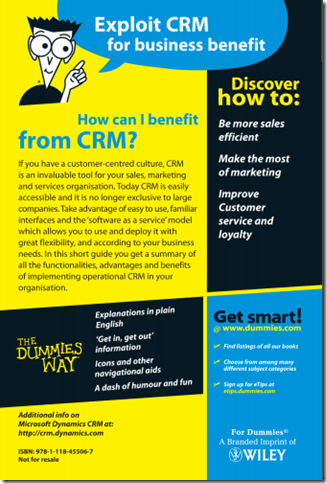 CRM CRM for Dummies Free eBook Compliments of Microsoft