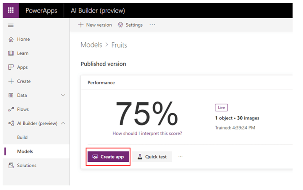 Object Recognition using the Microsoft PowerApps AI