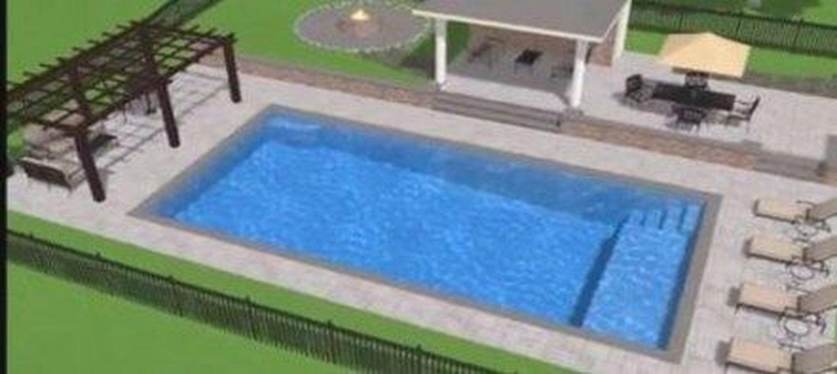 Gorgeous Summer Outdoor Pool Design Ideas 06