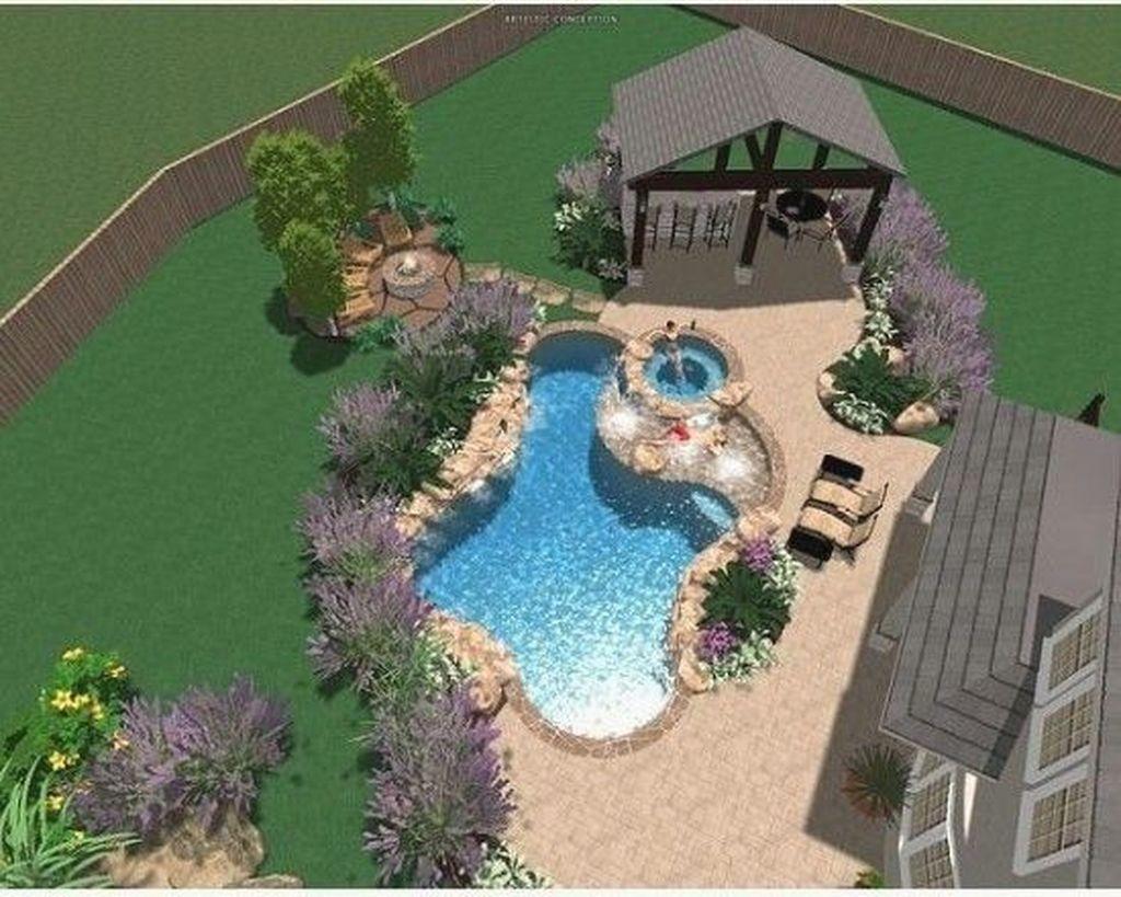 Gorgeous Summer Outdoor Pool Design Ideas 18