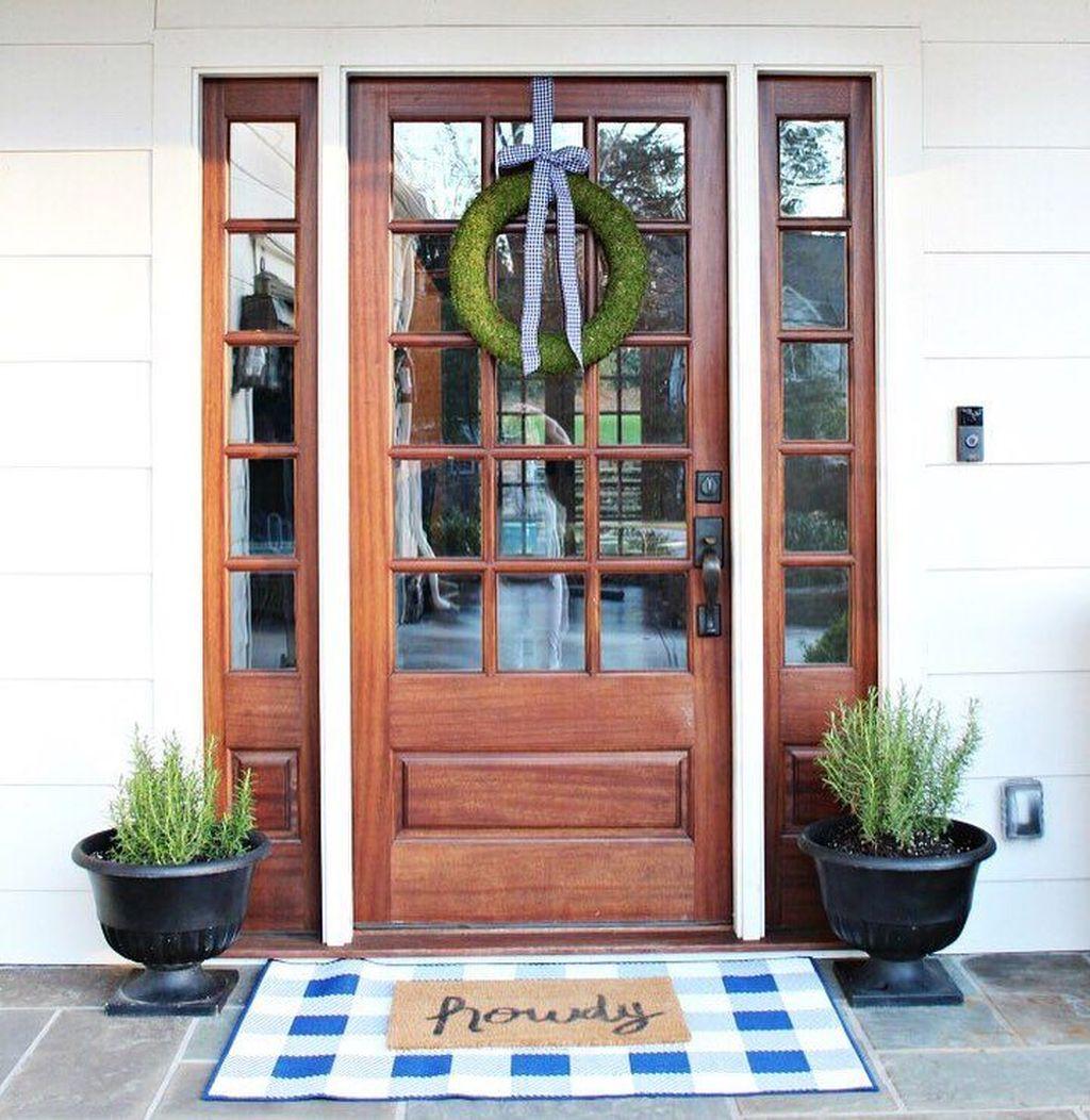 Inspiring Spring Planters Design Ideas For Front Door 01