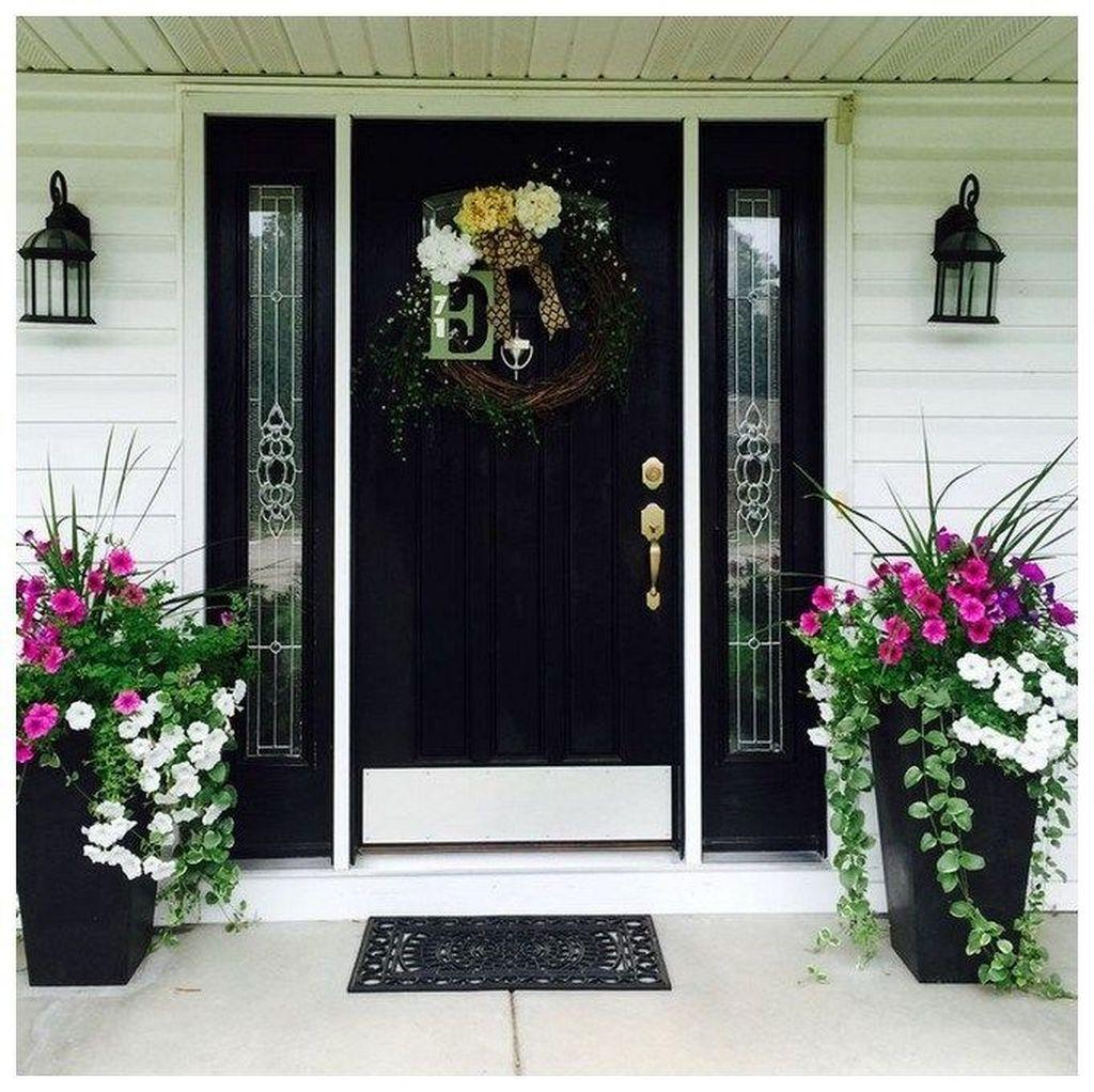 Inspiring Spring Planters Design Ideas For Front Door 08