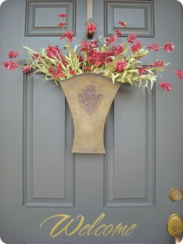 Inspiring Spring Planters Design Ideas For Front Door 26