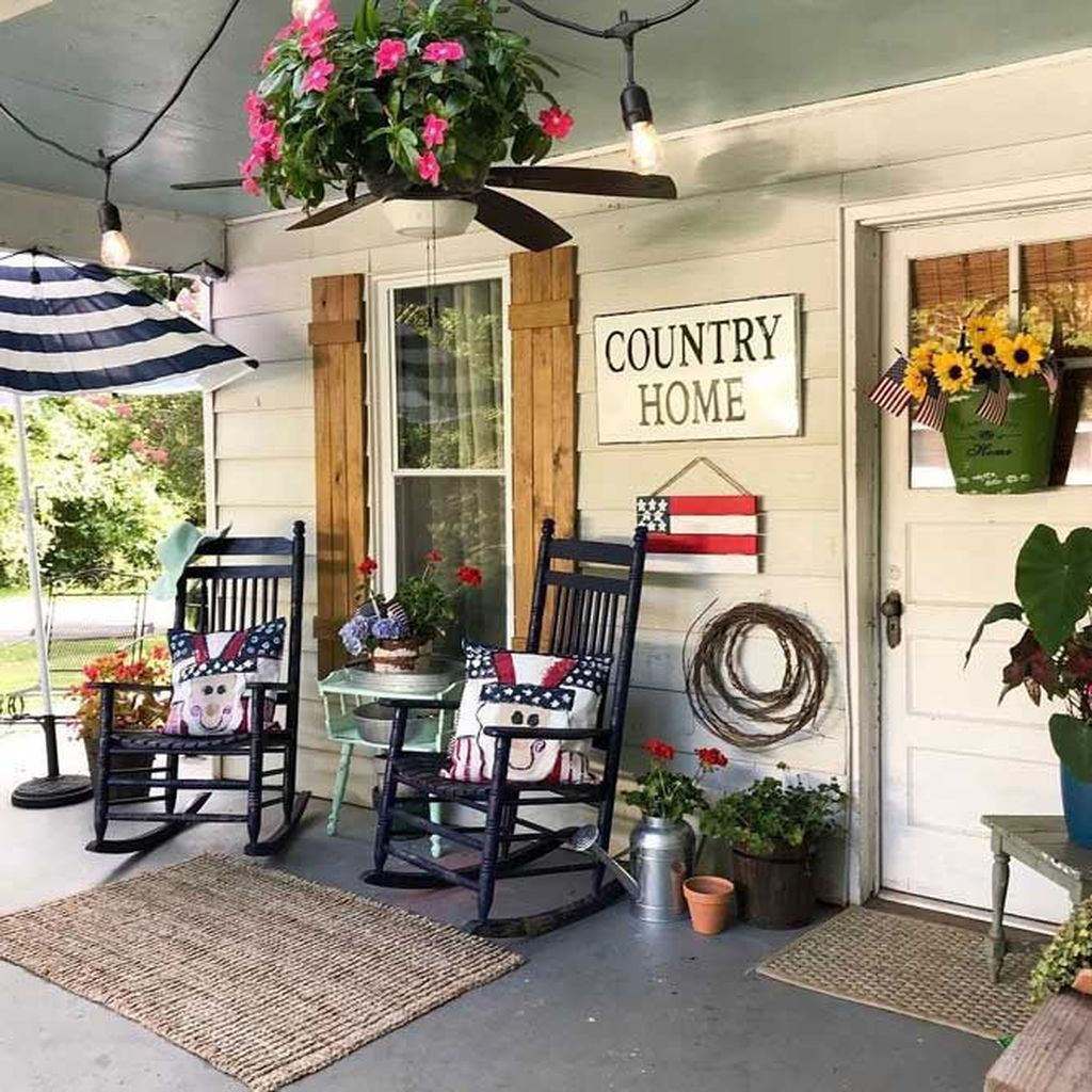 The Best Front Porch Ideas For Summer Decorating 26