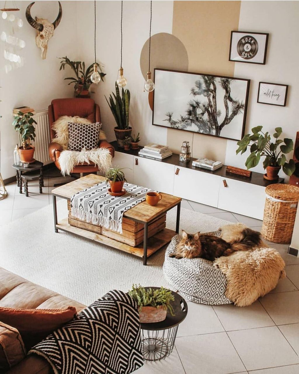 Amazing Bohemian Farmhouse Living Room Design Ideas 22