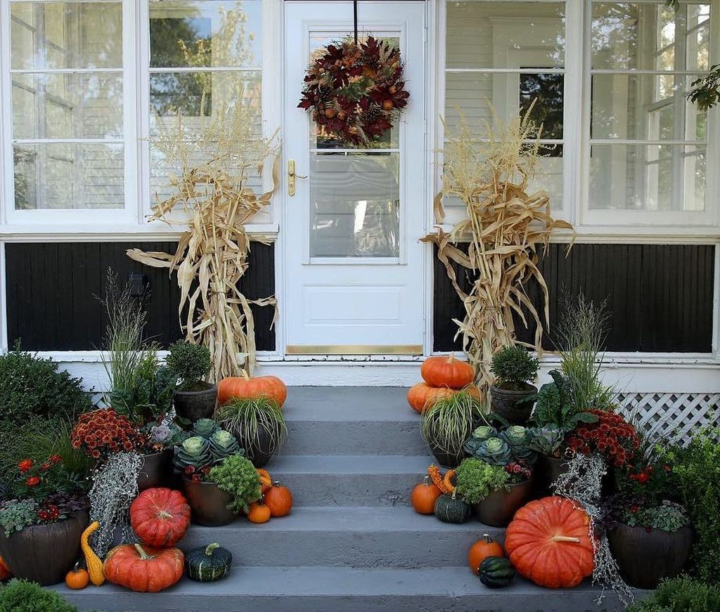 Amazing Fall Planter Ideas Best For Front Porches 02