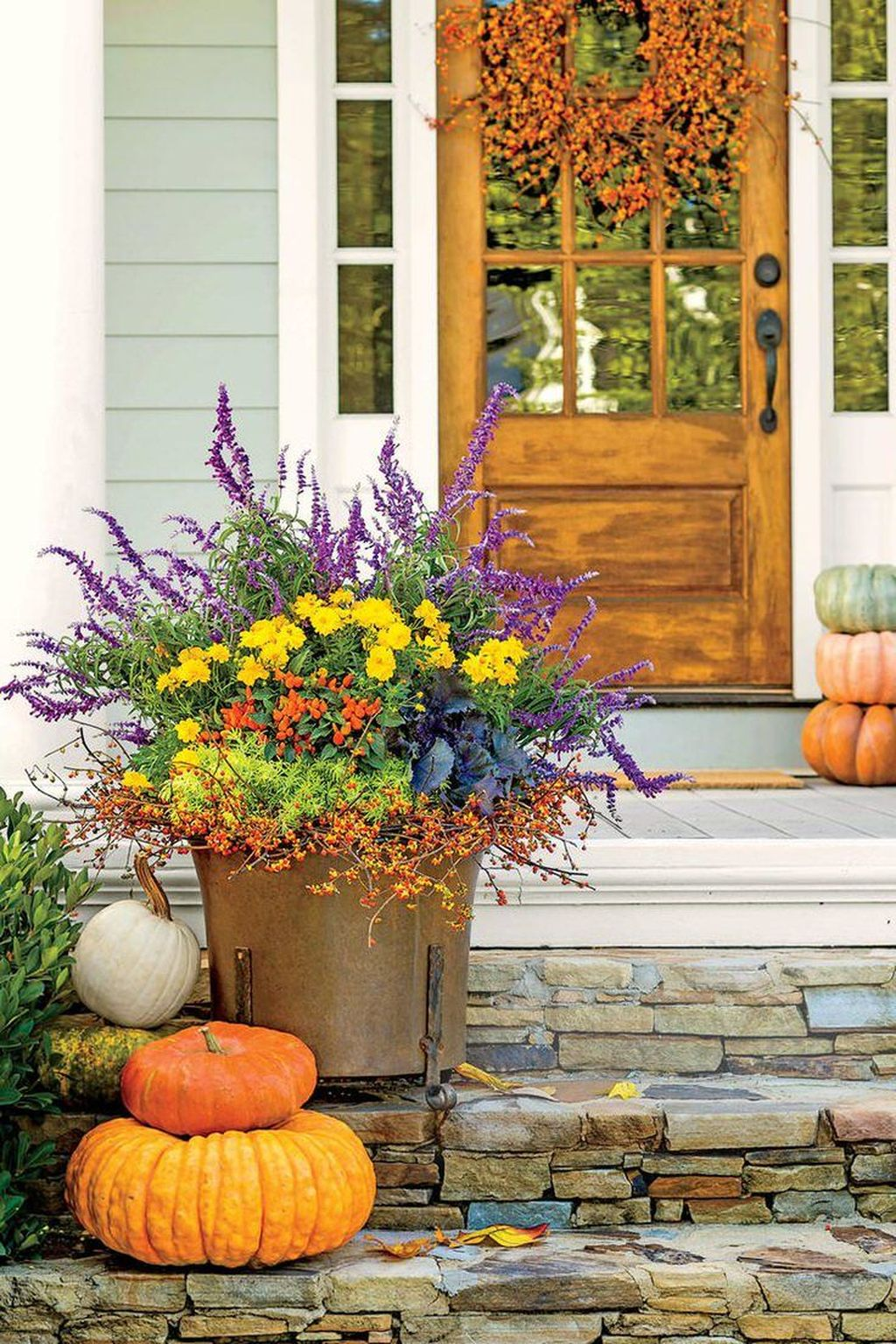 Amazing Fall Planter Ideas Best For Front Porches 10