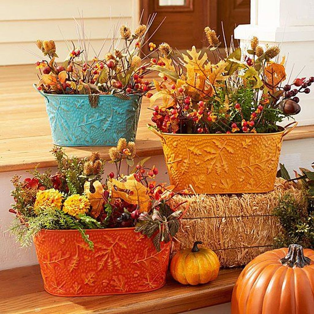 Amazing Fall Planter Ideas Best For Front Porches 27