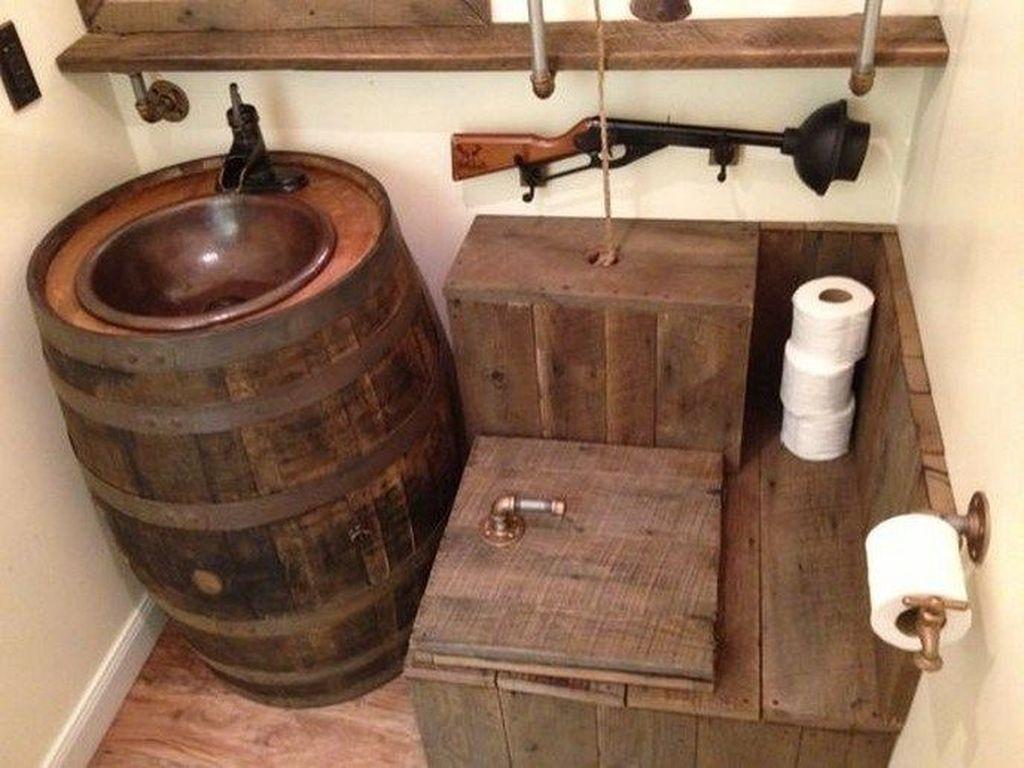 Amazing Rustic Barn Bathroom Decor Ideas 07