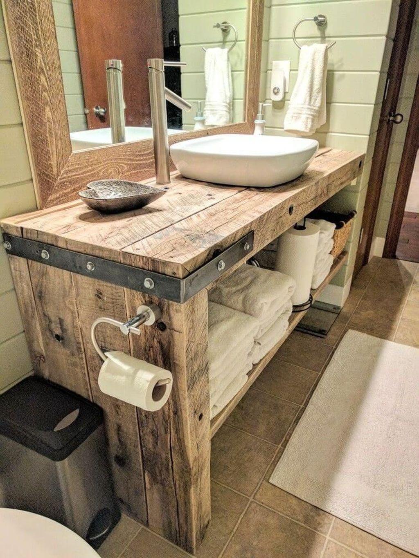 Amazing Rustic Barn Bathroom Decor Ideas 22
