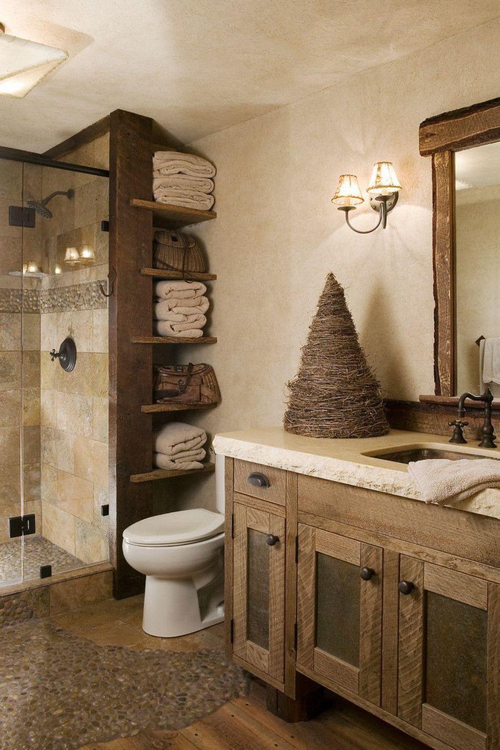 Amazing Rustic Barn Bathroom Decor Ideas 28