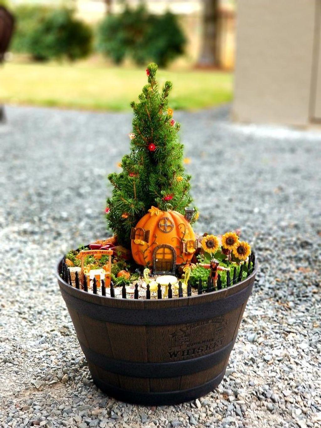 Beautiful Fall Fairy Garden Design Ideas 07