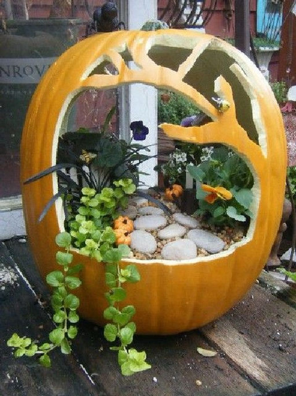 Beautiful Fall Fairy Garden Design Ideas 13